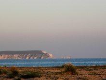 Photo of The Needles, taken from Highcliffe